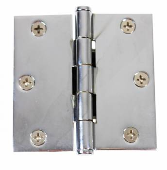 Chrome Solid Brass Cabinet Hinge Coin Tip 3 Door Hinges Door Hinge Solid Brass Hinge