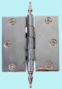 Chrome Solid Brass Cabinet Hinge Spire Tip 3 Door Hinges Door Hinge Solid Brass Hinge