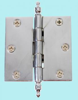 Door Hinges - 3in x 3in Square Hinges (with  Urn Finials) by the Renovator's Supply