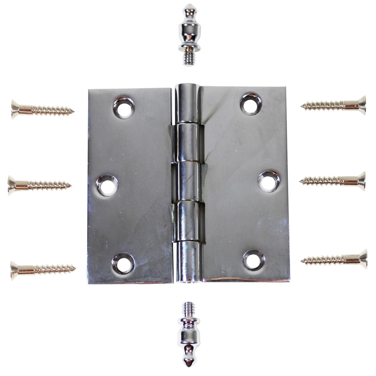 Chrome Solid Brass Cabinet Hinge Urn Tip 3 Door Hinges Door Hinge Solid Brass Hinge