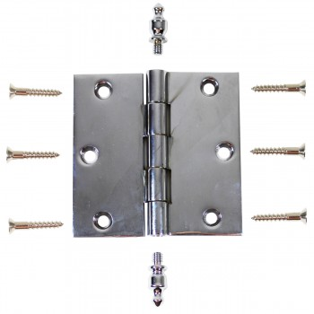 Chrome Solid Brass Cabinet Hinge Urn Tip 3 Door Hinges Door Hinge Solid Brass Hinge