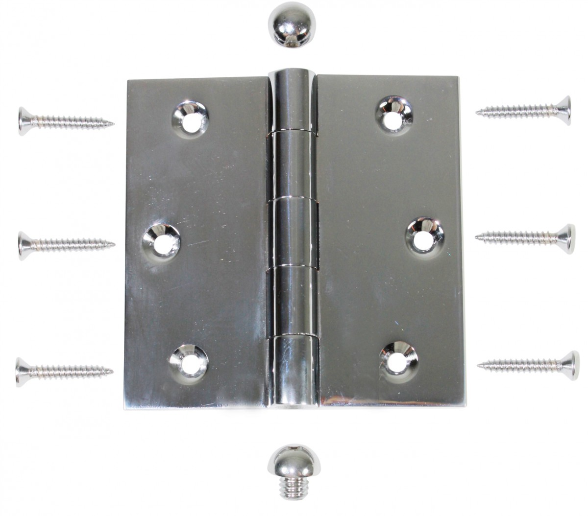 Chrome Solid Brass Cabinet Hinge Button Tip 3 12 Door Hinges Door Hinge Solid Brass Hinge