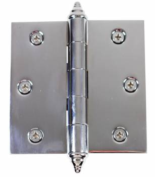 Chrome Solid Brass Cabinet Hinge Decor Tip 3 1/2