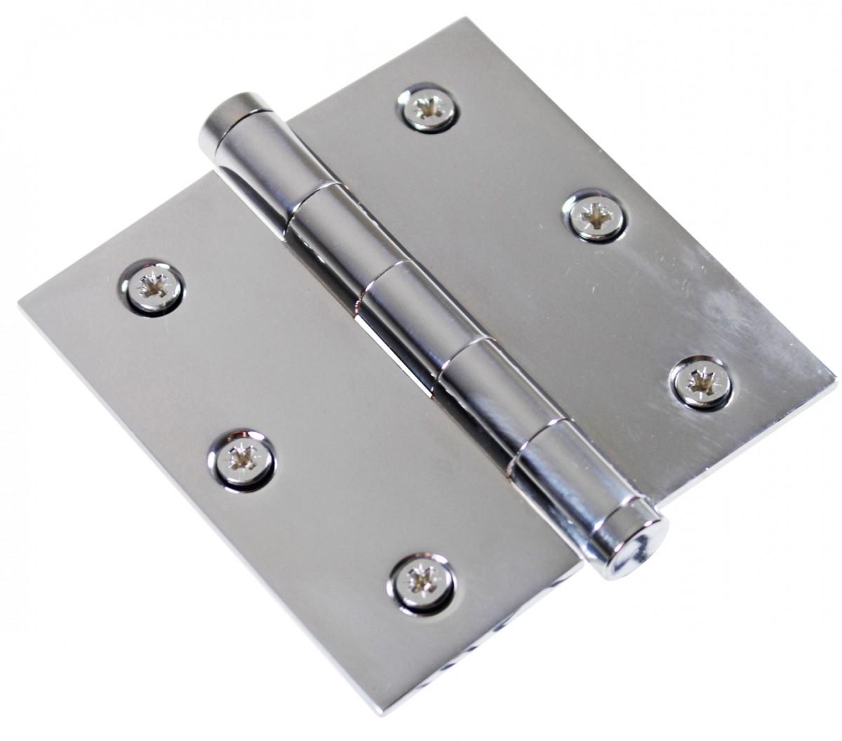 Chrome Solid Brass Cabinet Hinge Coin Tip 3 12 Door Hinges Door Hinge Solid Brass Hinge