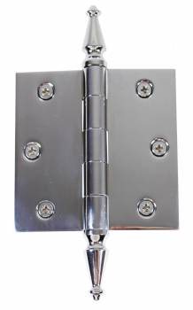 Chrome Solid Brass Cabinet Hinge Spire Tip 3 1/2