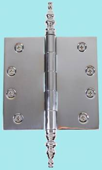 Chrome Solid Brass Cabinet Hinge Temple Tip 4 Door Hinges Door Hinge