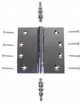 Chrome Solid Brass Cabinet Hinge Temple Tip 4 Door Hinges Door Hinge