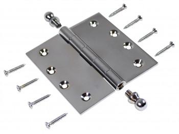 Chrome Solid Brass Cabinet Hinge Ball Tip 4 Door Hinges Door Hinge Solid Brass Hinge