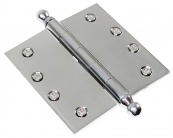 <PRE>Chrome Solid Brass Cabinet Hinge Ball Tip 4&quot; </PRE>