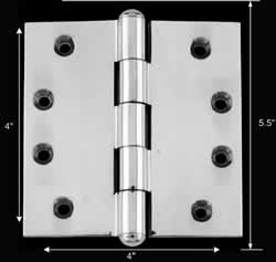 "spec-<PRE>Chrome Solid Brass Cabinet Hinge Button Tip 4"" </PRE>"