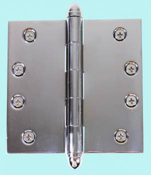 Chrome Solid Brass Cabinet Hinge Helmet Tip 4 Door Hinges Door Hinge Solid Brass Hinge