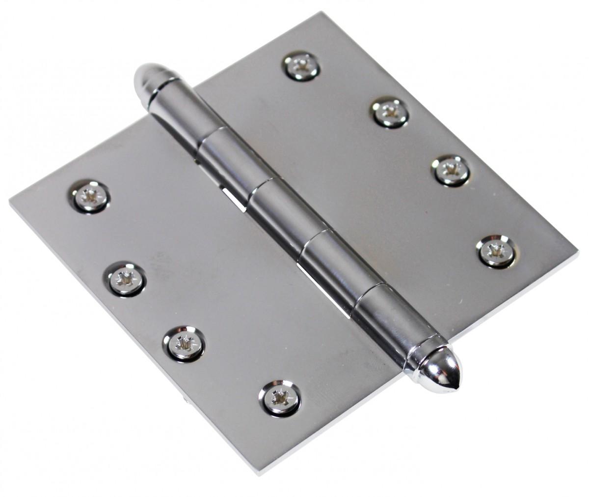 Chrome Solid Brass Cabinet Hinge Helmet Tip 4 Door Hinges Door Hinge Solid Brass Hinge
