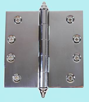 <PRE>Chrome Solid Brass Cabinet Hinge Decor Tip 4inch </PRE>zoom2