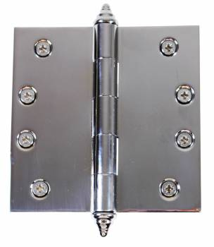 Chrome Solid Brass Cabinet Hinge Decor Tip 4