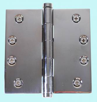 Chrome Solid Brass Cabinet Hinge Coin Tip 4 Door Hinges Door Hinge Solid Brass Hinge