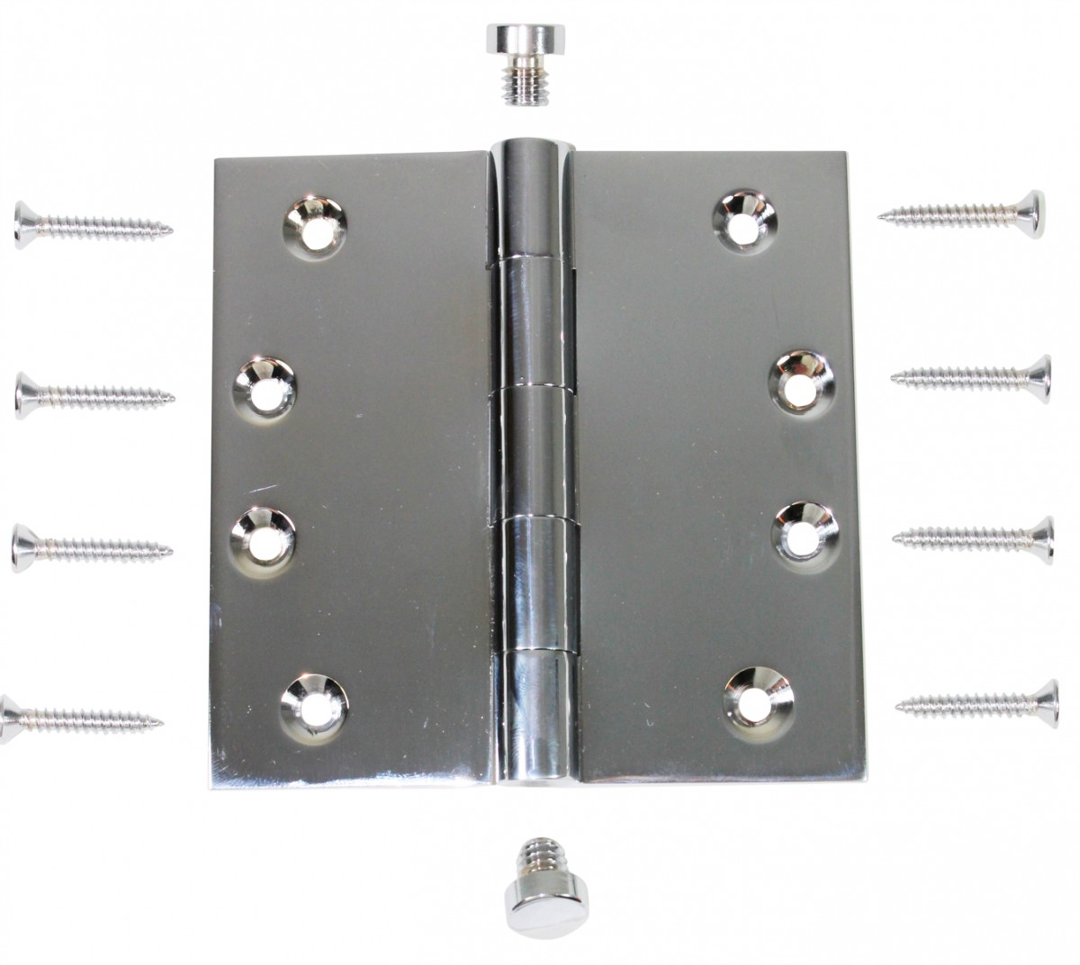 Chrome Solid Brass Cabinet Hinge Coin Tip 4 Door Hinges Door Hinge Solid Brass Hinge