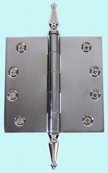 Chrome Solid Brass Cabinet Hinge Spire Tip 4 Door Hinges Door Hinge Solid Brass Hinge