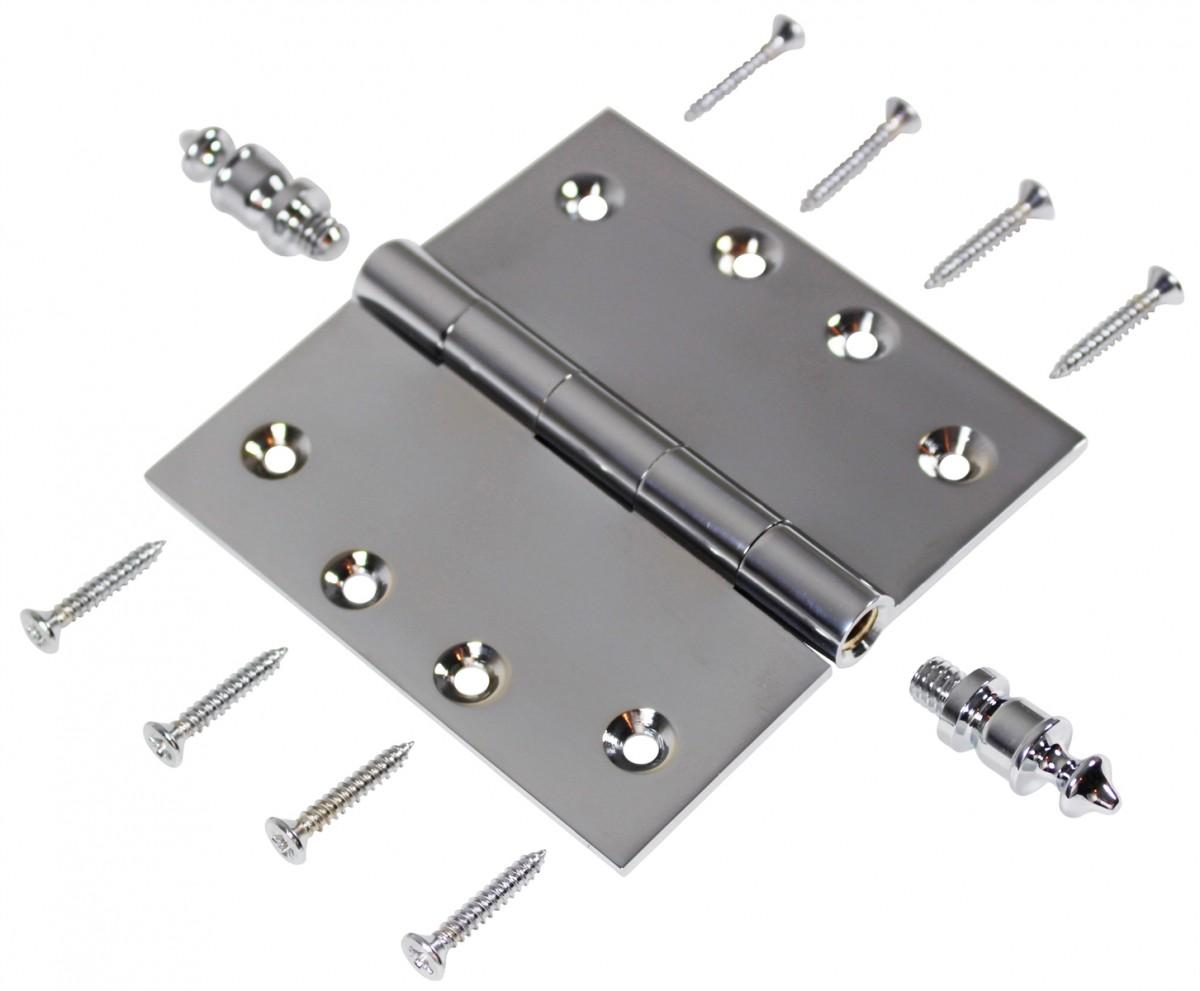 Chrome Solid Brass Cabinet Hinge Urn Tip 4 Door Hinges Door Hinge Solid Brass Hinge