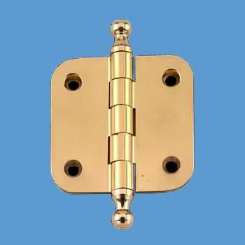 <PRE>Solid Brass Cabinet Hinge Radius Ball Tip 2&quot; </PRE>
