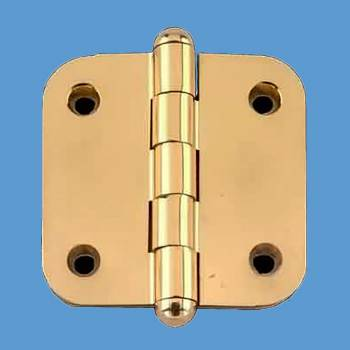 <PRE>Solid Brass Cabinet Hinge Radius Button Tip 2&quot; </PRE>