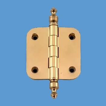 <PRE>Solid Brass Cabinet Hinge Radius Urn Tip 2inch </PRE>zoom2