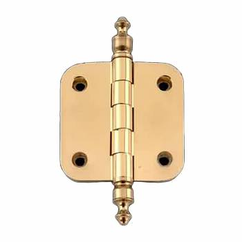 <PRE>Solid Brass Cabinet Hinge Radius Urn Tip 2inch </PRE>zoom1
