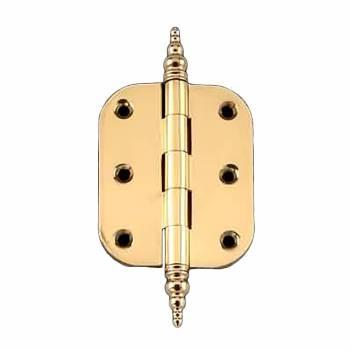Solid Brass Cabinet Hinge Radius Steeple Tip 2