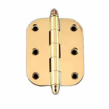 Solid Brass Cabinet Hinge Radius Helmet Tip 2