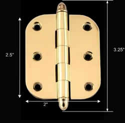 spec-<PRE>Cabinet Hinges Bright Solid Brass Cabinet Hinge</PRE>