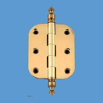 "<PRE>Solid Brass Cabinet Hinge Radius Urn Tip 2inch x 2.5"" </PRE>zoom2"