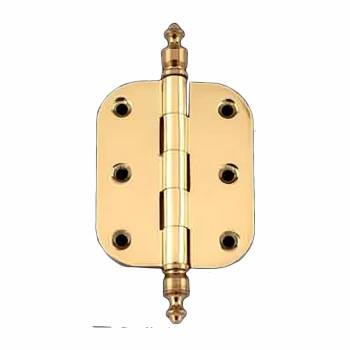 "<PRE>Solid Brass Cabinet Hinge Radius Urn Tip 2inch x 2.5"" </PRE>zoom1"