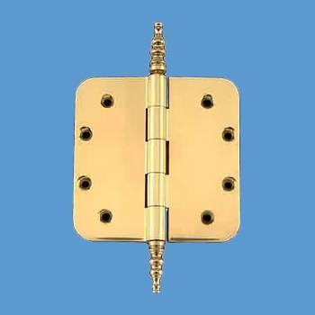 <PRE>Solid Brass Door Hinge 5&quot; Radius Steeple Finial </PRE>