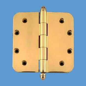 <PRE>Solid Brass Door Hinge 5&quot; Radius Helmet Finial </PRE>