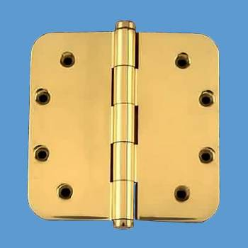 <PRE>Solid Brass Door Hinge 5inch Radius Coin Finial </PRE>zoom2
