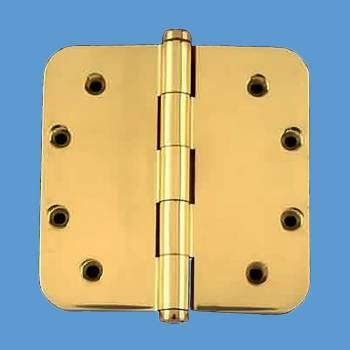 <PRE>Solid Brass Door Hinge 5&quot; Radius Coin Finial </PRE>