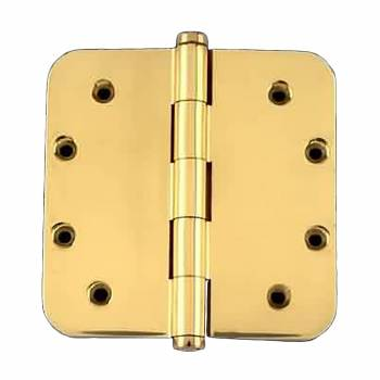 <PRE>Solid Brass Door Hinge 5inch Radius Coin Finial </PRE>zoom1