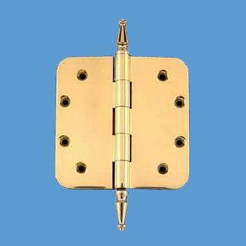 <PRE>Solid Brass Door Hinge 5inch Radius Spire Finial </PRE>zoom2
