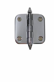 <PRE>Chrome Brass Cabinet Hinge Radius Decor Tip 2inch  </PRE>zoom1