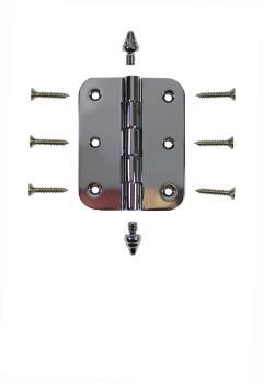 <PRE>Chrome Brass Cabinet Hinge Radius Decor Tip 2inch x 2.5&quot; </PRE>zoom3