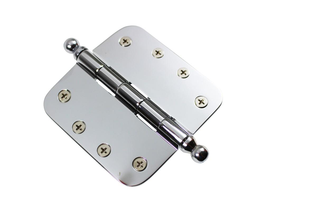 Chrome Door Hinge 4 X 4 Radius Brass Ball Tip Door Hinges Door Hinge