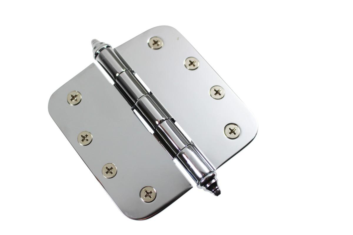 Chrome Door Hinge 4 X 4 Radius Brass Decor Tip Door Hinges Door Hinge Solid Brass Hinge