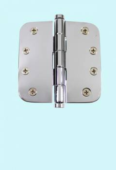 <PRE>Chrome Door Hinge 4inch X 4&quot; Radius Brass Coin Tip </PRE>zoom2