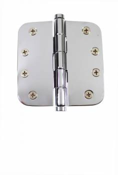 Chrome Door Hinge 4 X 4 Radius Brass Coin Tip