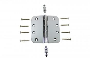 Chrome Door Hinge 4 X 4 Radius Brass Urn Tip Door Hinges Door Hinge Solid Brass Hinge