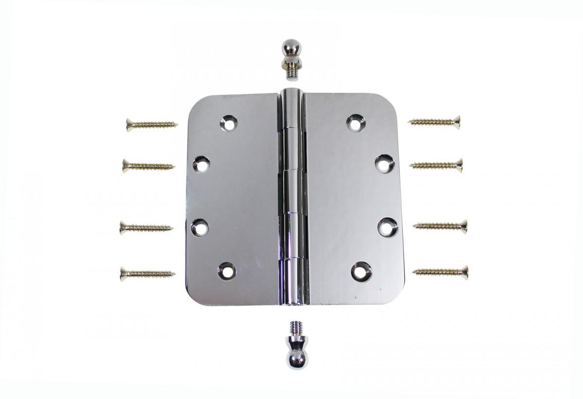 Chrome Door Hinge 5 X 5 Radius Brass Ball Tip Door Hinges Door Hinge