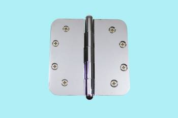 Chrome Door Hinge 5 X 5 Radius Brass Button Tip Door Hinges Door Hinge Solid Brass Hinge