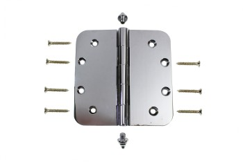 Chrome Door Hinge 5 X 5 Radius Brass Decor Tip Door Hinges Door Hinge Solid Brass Hinge