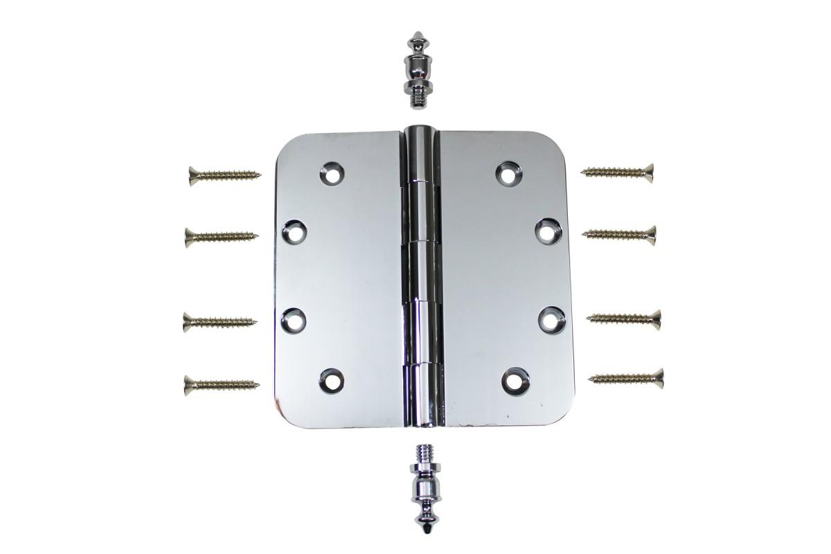 Chrome Door Hinge 5 X 5 Radius Brass Urn Tip Door Hinges Door Hinge Solid Brass Hinge