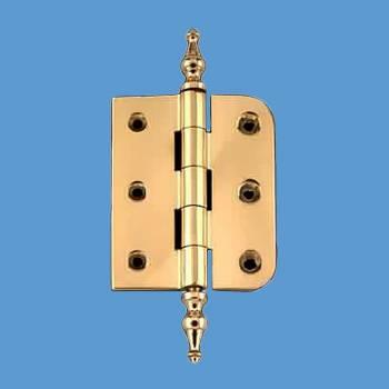 "<PRE>Bright Solid Brass Cabinet Hinge 2"" x 2.5&quot; Temple Tip </PRE>"
