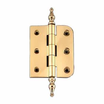 "Bright Solid Brass Cabinet Hinge 2"" x 2.5"